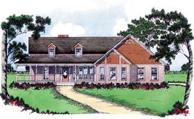 Country House Plan 56210 Elevation
