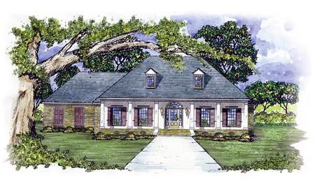 Colonial House Plan 56218 Elevation