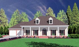 Colonial House Plan 56219 Elevation