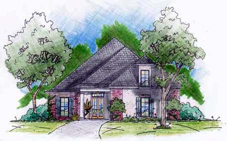 European House Plan 56220 Elevation
