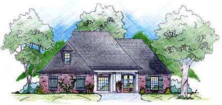 House Plan 56221 | European Style Plan with 2115 Sq Ft, 3 Bedrooms, 3 Bathrooms, 2 Car Garage Elevation