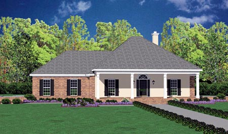 Colonial House Plan 56234 Elevation