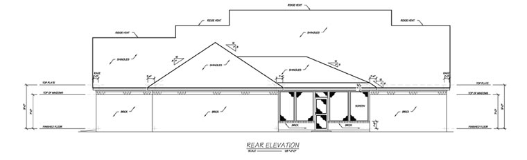 Traditional House Plan 56235 Rear Elevation