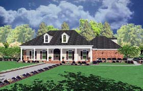 Colonial House Plan 56253 with 3 Beds, 2 Baths, 2 Car Garage Elevation
