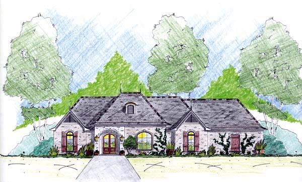 House Plan 56255 Elevation