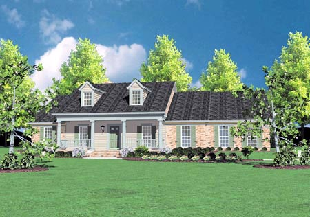Country House Plan 56259 Elevation
