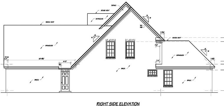 Traditional House Plan 56278 with 4 Beds, 4 Baths, 2 Car Garage Picture 2