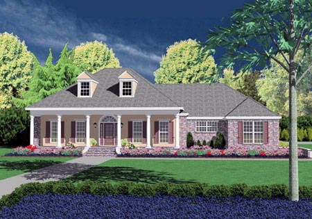 Colonial House Plan 56282 Elevation