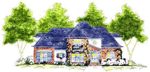 European House Plan 56283 Elevation