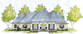 European House Plan 56284 Elevation