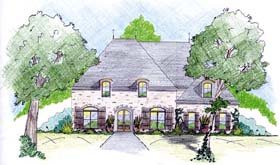 House Plan 56287 | Style House Plan with 2640 Sq Ft, 3 Bed, 2 Bath, 2 Car Garage Elevation