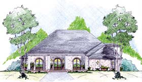 House Plan 56297 Elevation