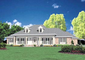 Colonial House Plan 56303 Elevation