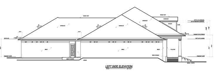 Colonial House Plan 56303 with 3 Beds, 4 Baths, 3 Car Garage Picture 1