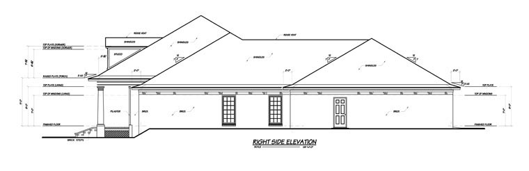 Colonial House Plan 56303 with 3 Beds, 4 Baths, 3 Car Garage Picture 2