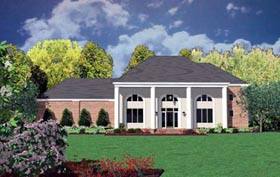 Colonial House Plan 56305 with 5 Beds, 3 Baths, 2 Car Garage Elevation