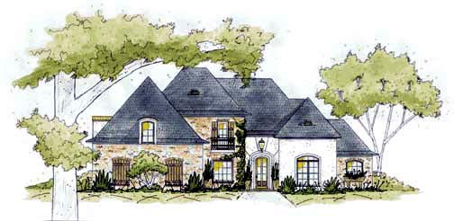 European House Plan 56306 Elevation