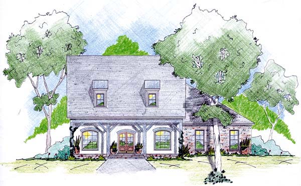 House Plan 56307 Elevation