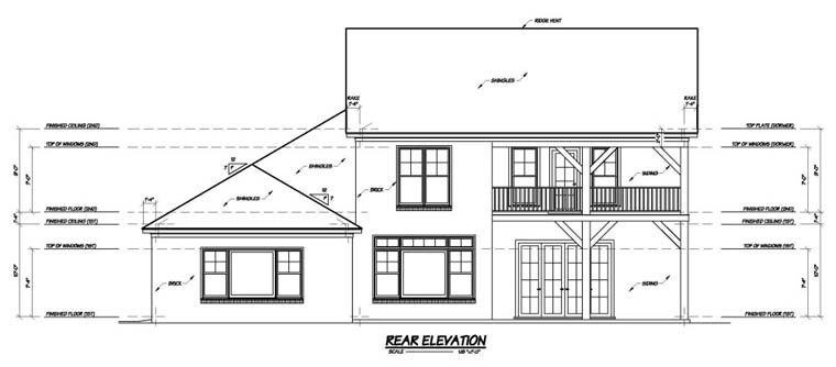 House Plan 56307 Rear Elevation
