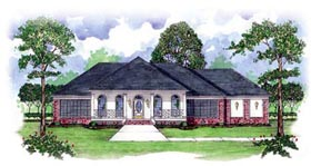 Colonial House Plan 56308 Elevation