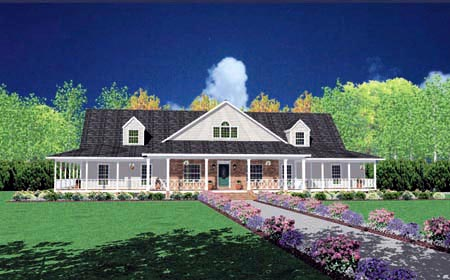 Traditional House Plan 56319 Elevation
