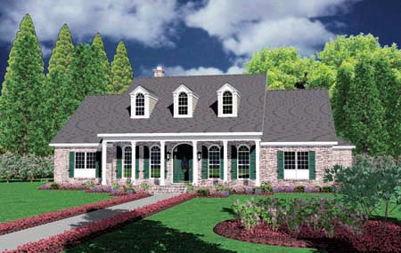 Cape Cod House Plan 56323 Elevation
