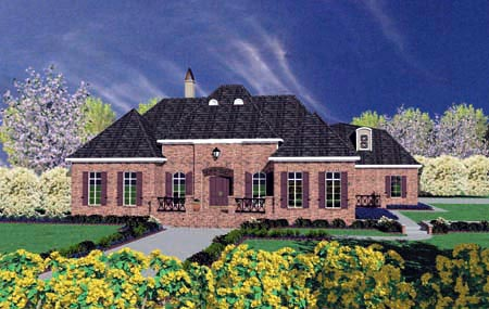 European House Plan 56324 Elevation