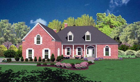 Traditional House Plan 56325 Elevation
