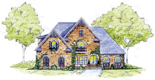 European House Plan 56326 Elevation