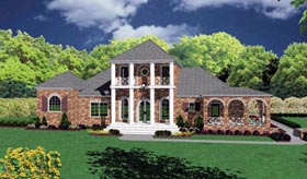 Colonial House Plan 56328 Elevation