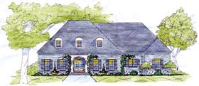 European House Plan 56330 Elevation