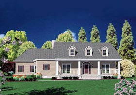 Traditional House Plan 56331 Elevation