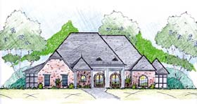 House Plan 56332 Elevation
