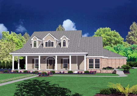 Cape Cod House Plan 56333 with 4 Beds, 5 Baths, 3 Car Garage Elevation
