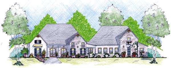 House Plan 56335 with 5 Beds, 5 Baths, 3 Car Garage Elevation