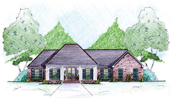 House Plan 56342 Elevation