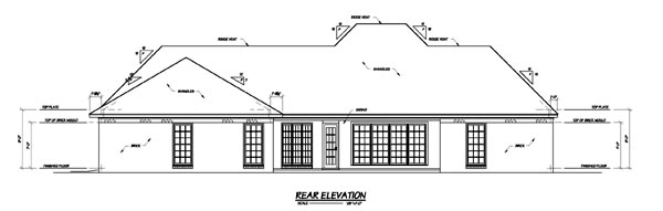 House Plan 56342 Rear Elevation