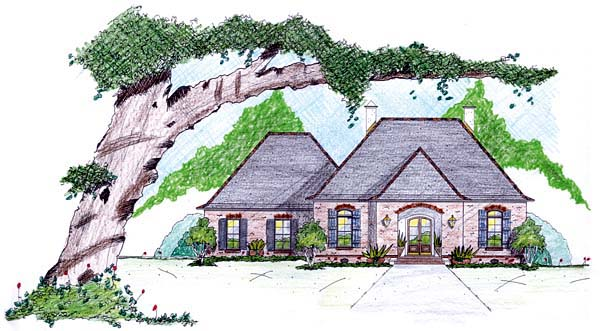 House Plan 56343 Elevation