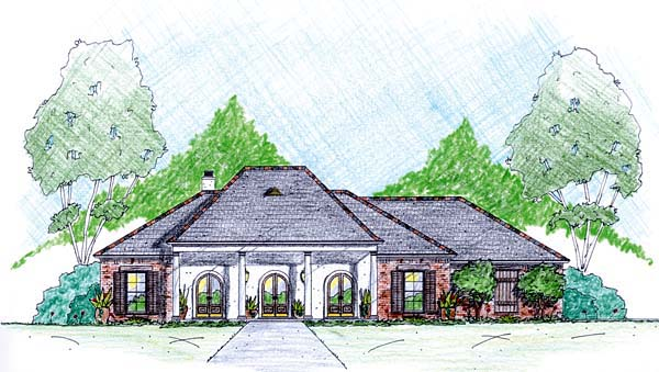 House Plan 56344 Elevation