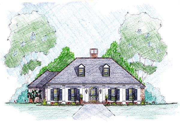 House Plan 56348 Elevation