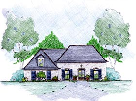 House Plan 56349 Elevation