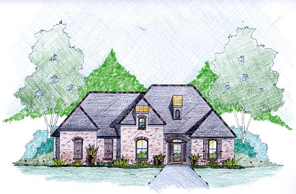House Plan 56351 Elevation