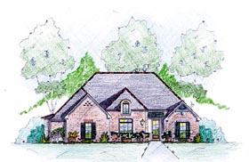 House Plan 56352 Elevation