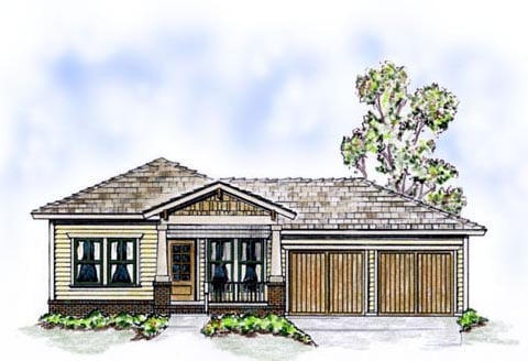 Bungalow Cottage Craftsman House Plan 56500 Elevation