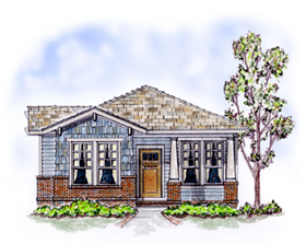 Bungalow Craftsman House Plan 56501 Elevation