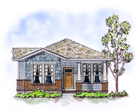 Bungalow, Craftsman House Plan 56501 with 3 Beds, 2 Baths, 2 Car Garage Elevation