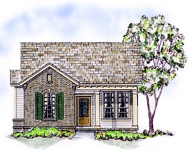Bungalow , Traditional House Plan 56502 with 3 Beds, 2 Baths, 2 Car Garage Elevation