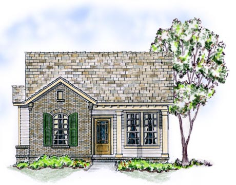 Bungalow, Traditional, House Plan 56502 with 3 Beds, 2 Baths, 2 Car Garage Elevation