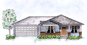 Bungalow Craftsman House Plan 56503 Elevation