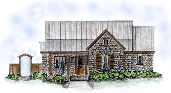 Bungalow House Plan 56505 with 3 Beds , 3 Baths , 2 Car Garage Elevation
